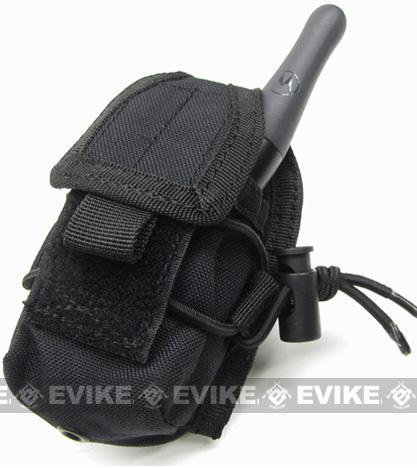 Phantom MOLLE Multi-Purpose Handheld FRS Radio MOLLE Pouch - Black