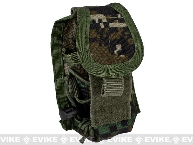 Phantom Gear MOLLE Multi-Purpose Handheld FRS Radio MOLLE Pouch - Digital Woodland