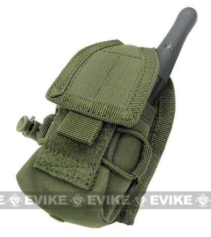 Phantom MOLLE Multi-Purpose Handheld FRS Radio MOLLE Pouch - OD Green