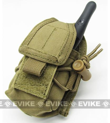 Phantom MOLLE Multi-Purpose Handheld FRS Radio MOLLE Pouch - Tan