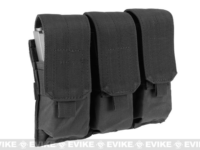 Triple M4 / G36 MOLLE Ready Magazine Pouch by Condor / Phantom - Black