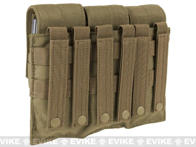 Triple M4 / G36 MOLLE Ready Magazine Pouch by Phantom - Tan