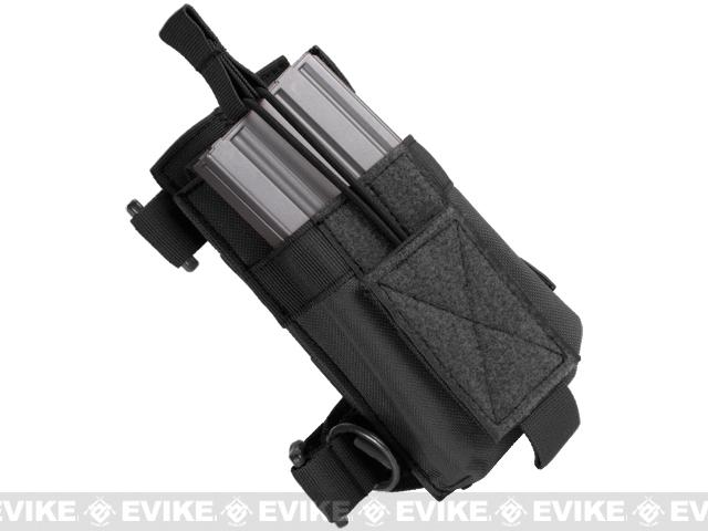 Matrix Recon M4 M16 AK Spare Magazine Pouch for Rifle Stocks - Black