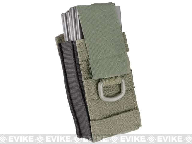 Phantom Aggressor MOLLE Ready M4 AK MP5 Magazine Pouch - Single / Ranger Green