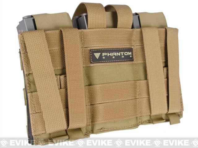 Phantom Aggressor MOLLE Ready M4 AK MP5 Magazine Pouch - Triple / Black