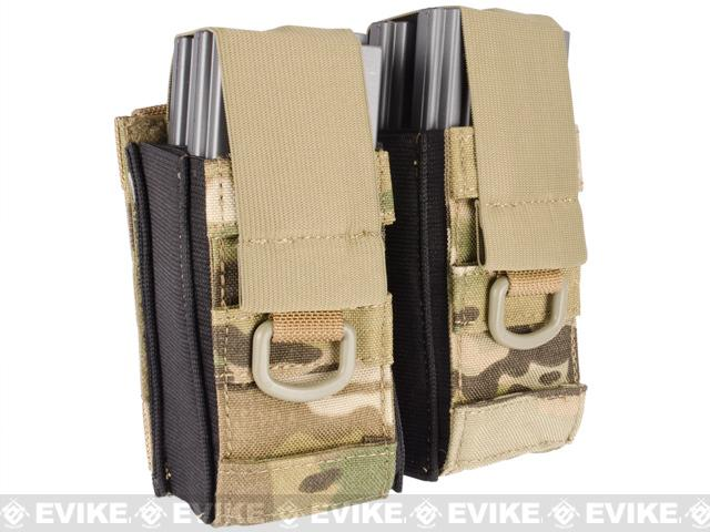 Black Owl Gear / Phantom Aggressor MOLLE Ready M4 AK MP5 Magazine Pouch (Color: Double / Multicam)