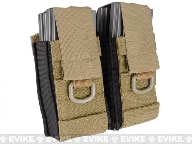 Phantom Aggressor MOLLE Ready M4 AK MP5 Magazine Pouch - Double / Tan