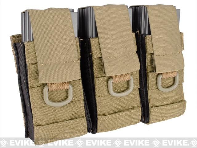 Phantom Aggressor MOLLE Ready M4 AK MP5 Magazine Pouch - Triple / Tan