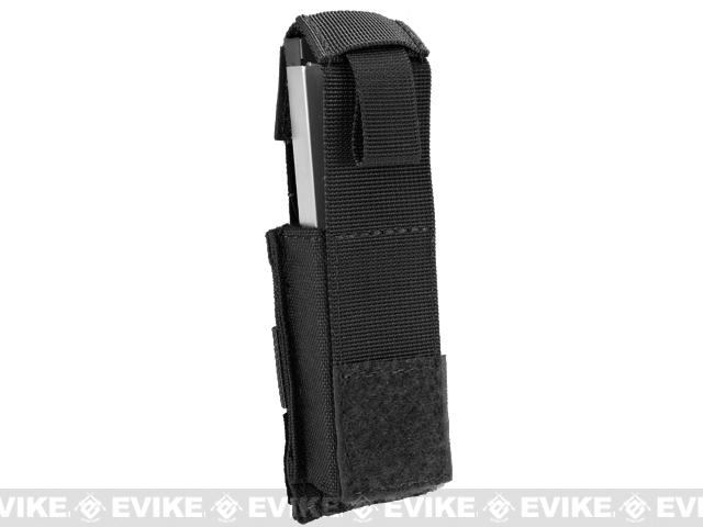 Phantom Gear MOLLE Hard Shell Quick Draw Pistol Magazine Pouch - Black