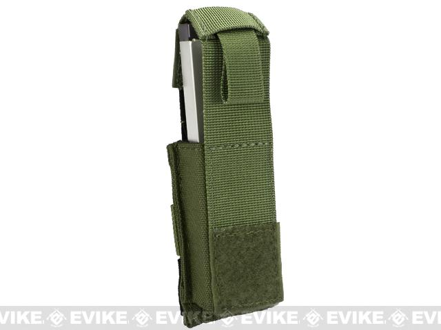 Phantom Gear MOLLE Hard Shell Quick Draw Pistol Magazine Pouch - OD Green