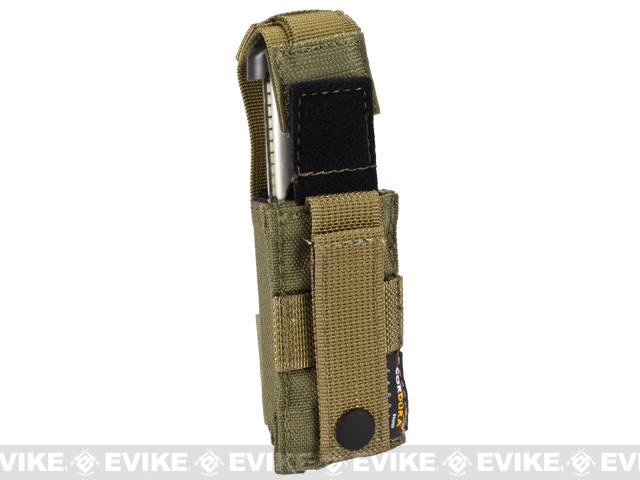 Phantom Gear MOLLE Hard Shell Quick Draw Pistol Magazine Pouch - Tan