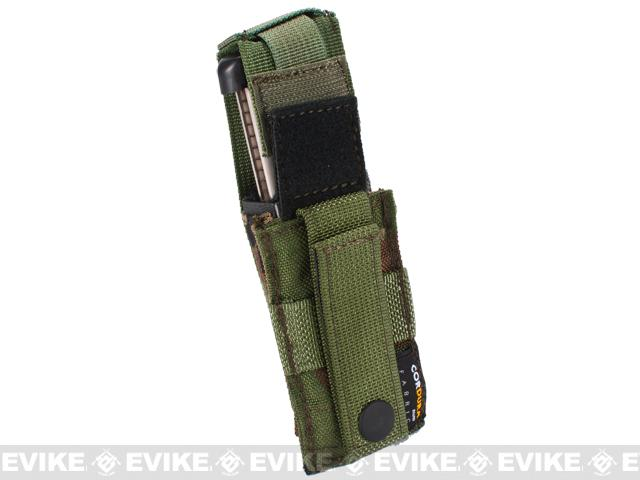 Phantom Gear MOLLE Hard Shell Quick Draw Pistol Magazine Pouch - Woodland