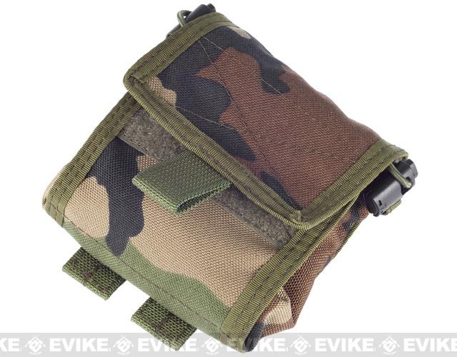 Phantom Roll-Up / Foldable Tactical MOLLE Utility Dump Pouch - (Woodland Camo)