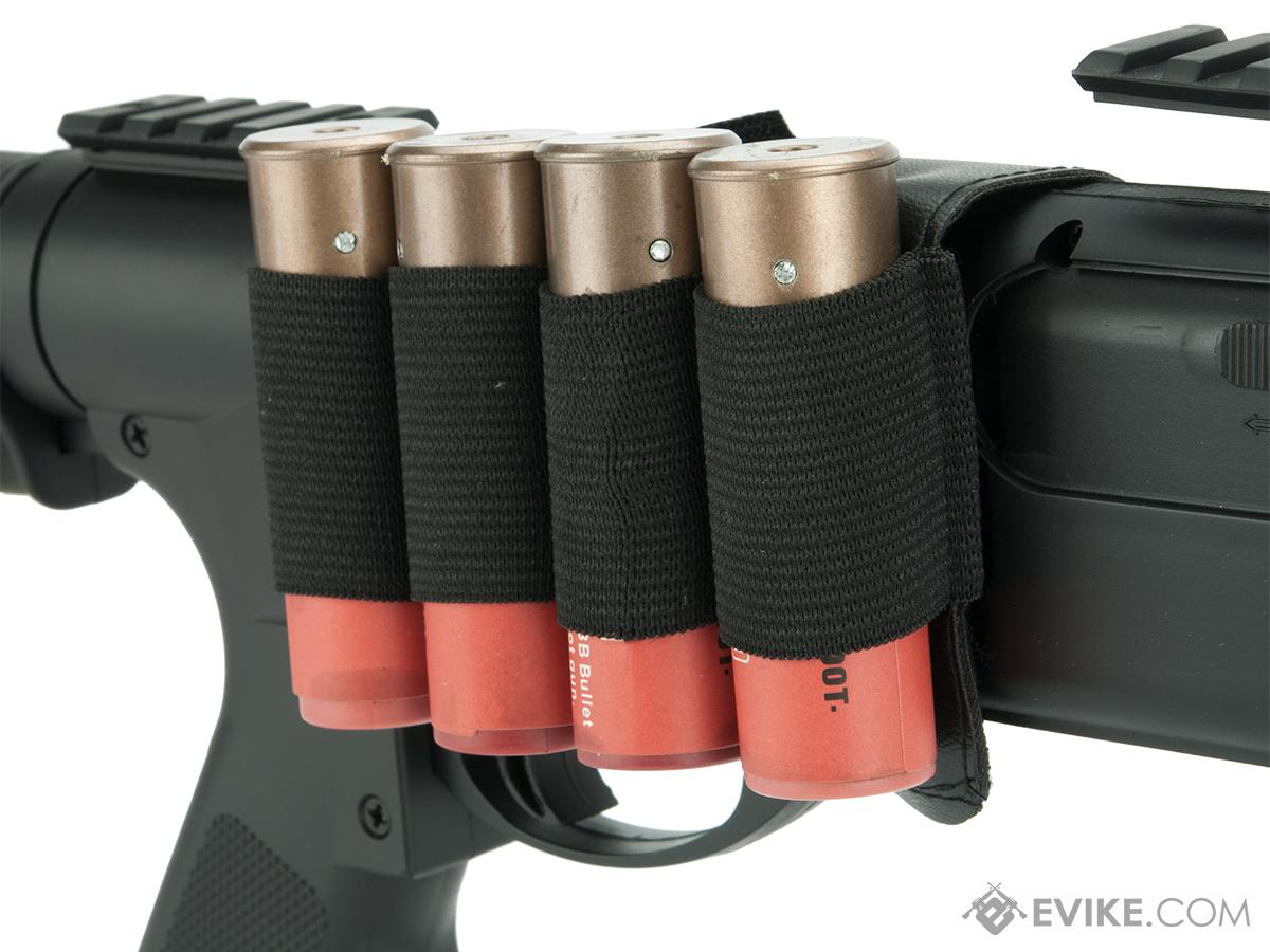TSD Shotgun Shell Holder Saddle for Airsoft Shotguns - Black