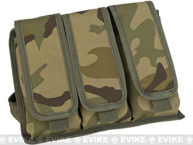 Matrix Tactical Drop Leg Triple Magazine Pouch Leg Platform - Woodland