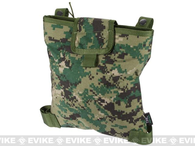 Dump Pouch w/ Lid and Leg Strap - Digital Woodland Marpat