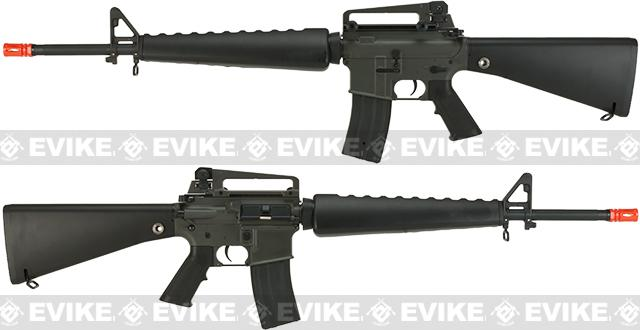 JG M16 with A1 Style Handguard Full Size Airsoft AEG Rifle with Removable Carry Handle and Metal Gearbox