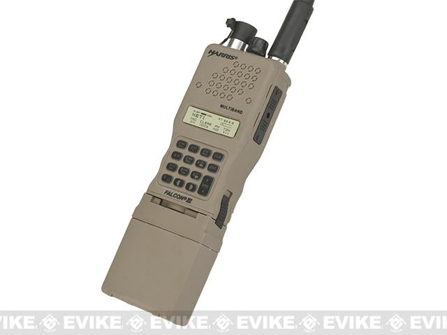 FMA High-Grade Dummy PRC-152 Radio with Detachable Antenna - Dark Earth