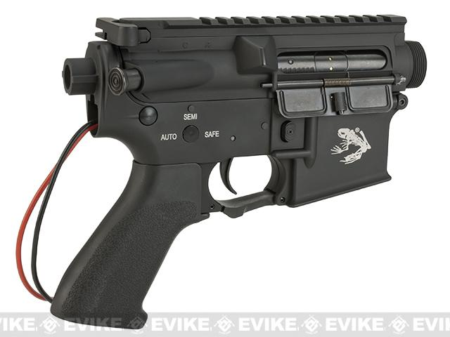 G&P Complete M4 Metal Receiver & Gearbox Airsoft AEG ProKit (Skull Frog) - Rear Wire / Black