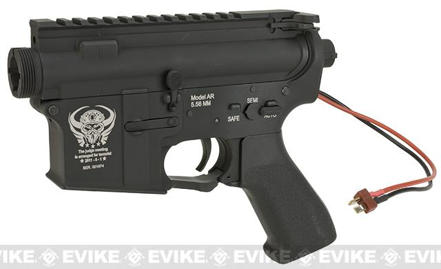 G&P Complete M4 Metal Receiver & Gearbox Airsoft AEG ProKit (Seal Team 6) - Rear Wire / Black