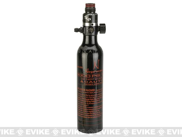 Ninja Paintball 13/3000 HPA System Air Tank w/ Ninja Pro V2  - Black