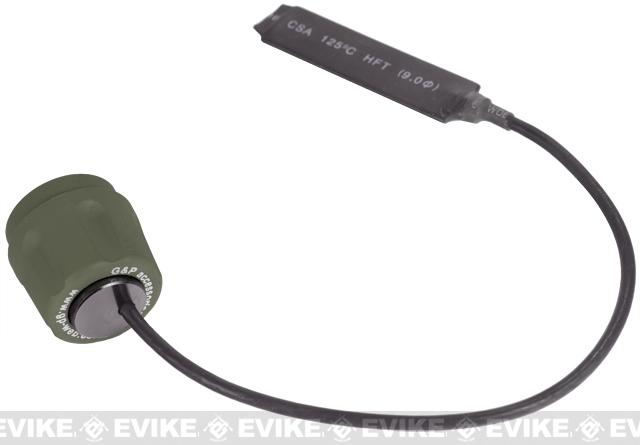 z Pressure Switch for G&P Surefire & Comp G2 Series Flashlights - OD Green