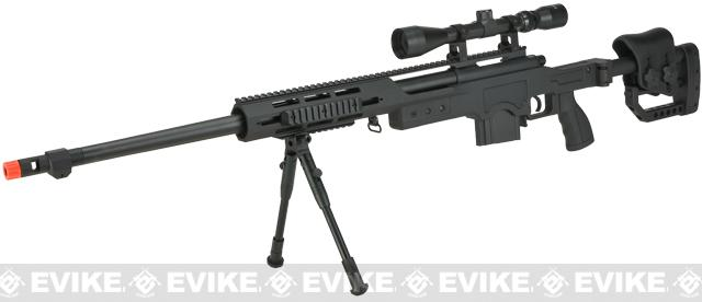 Hawk Arms PSG-440 Bolt Action Airsoft Sniper Rifle w/ Scope & Bipod - Black