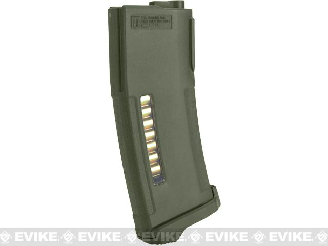 PTS 150rd Mid-Cap Enhanced Polymer Magazine (EPM) for M4 / M16 Series Airsoft AEG Rifles - OD Green
