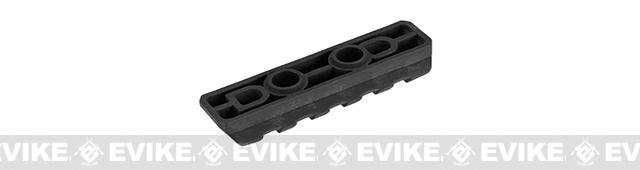 PTS Enhanced Picatinny Keymod Rail Section - Black (5 slots)