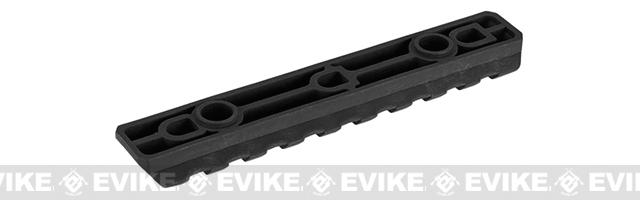 PTS Enhanced Picatinny Keymod Rail Section - Black (9 slots)