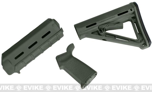 z Magpul PTS MOE Conversion Kit for WA/G&P M4 Series Airsoft GBB Rifles - OD Green
