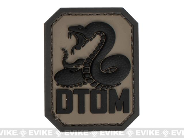 z Mil-Spec Monkey DTOM PVC Hook and Loop Patch - ACU Dark