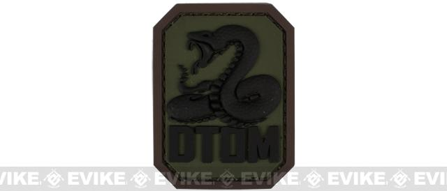 Mil-Spec Monkey DTOM PVC Hook and Loop Patch - Forest