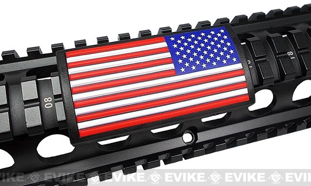 Custom Gun Rails (CGR) Large PVC Grip - U.S. Flag Color (Stars Right)