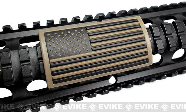 Custom Gun Rails (CGR) Large PVC Grip - U.S. Flag Tan (Stars Left)