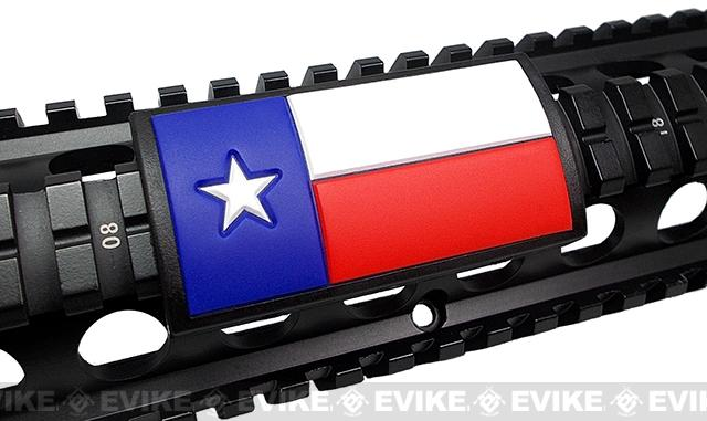 Custom Gun Rails (CGR) Large PVC Grip - Texas Flag (Color)