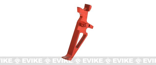 Retro Arms CZ Custom CNC Aluminum Trigger for M4 / M16 Series Airsoft AEG Rifles - Red (Type B)