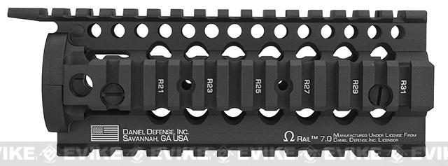 Daniel Defense Omega 7 RIS for Airsoft M4/M16 Series AEG by Madbull - Black