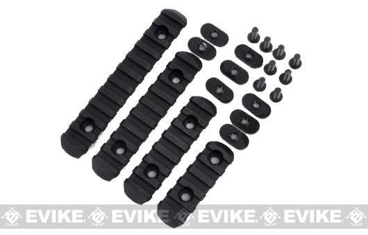 Polymer Rail Set for PTS MOE Hand Guard Series - Black