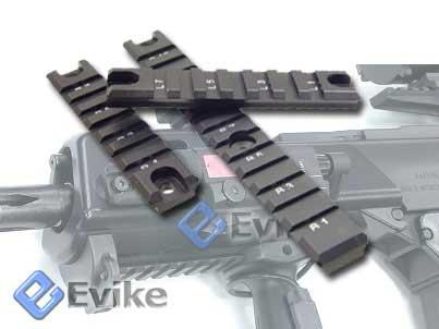 G36 / G36C Handguard Picatinny Weaver CNC Rails Set (Black / 2 short 1 Long)