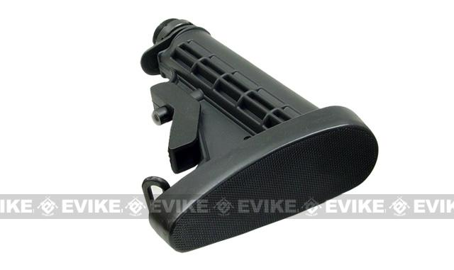 UTG Real Steel M4 AR15 Rubber Slip Over Butt Pad (LE stock) - Black