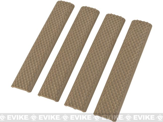 Matrix Rubber Snakeskin Textured Keymod 6 Rail Covers - Set of 4 (Color: Dark Earth)