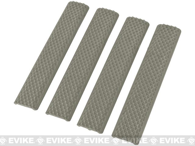 Matrix Rubber Snakeskin Textured Keymod 6 Rail Covers - Set of 4 (Color: Foliage)