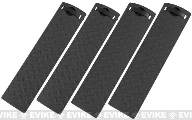 Energy Diamond Plate Rail Covers - (Set of 4 / Black)