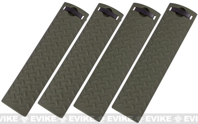 Energy Diamond Plate Rail Covers - Set of 4 (Color: OD Green)