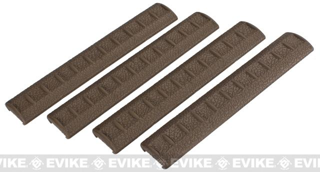 APS Rubber Rail Cover for 20mm Rails - Dark Earth / Set of 4