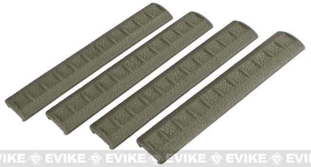 APS Rubber Rail Cover for 20mm Rails - Set of 4 (Color: Foliage Green)