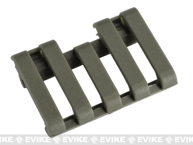 Element 5-Slot Rail Cover with Wire Loom - Foliage Green