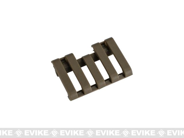 Element 5-Slot Rail Cover with Wire Loom - Tan