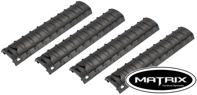 Matrix One Piece Polymer Rail Covers - Black / Set of 4